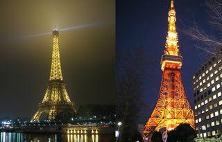 Tour Eiffel - Tokyo Tower