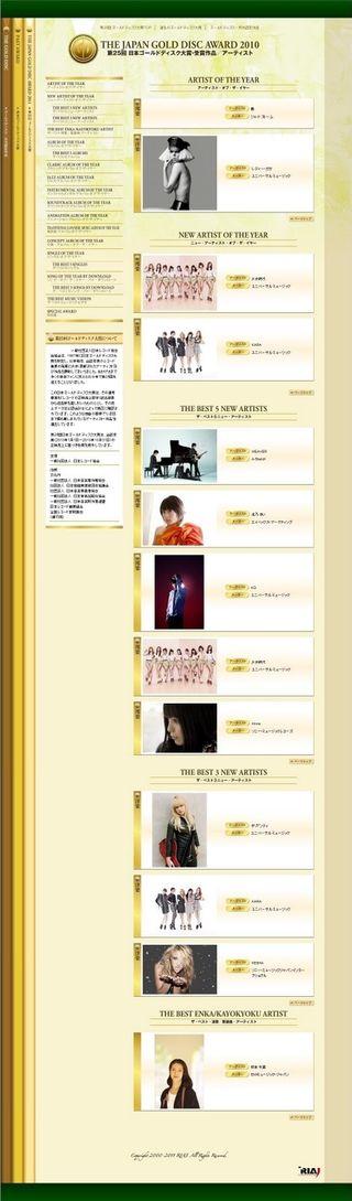 THE JAPAN GOLD DISC AWARD 2010 03